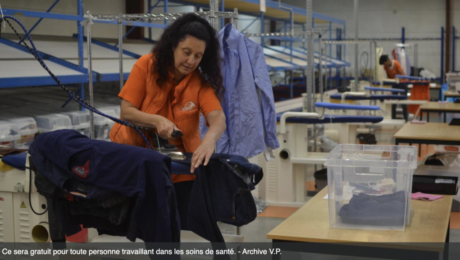 EkoServices offre le repassage gratuit à tout le personnel soignant dans le Hainaut